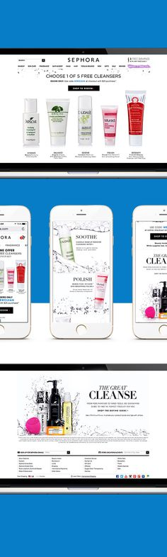 interactive campaign for Sephora. #cleanse #makeup #ecommerce #product #interactive #ux #sitedesign #sephora #makeup #editorial #interviews