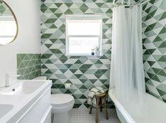 tri colour tile