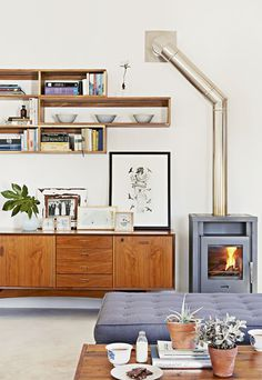 lounge | photo kristian holm #fire #house #interior #sideboard #living room