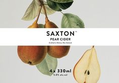patterns / Supply: Saxton Packaging #graphic #package #brand #fruit #pear #cider