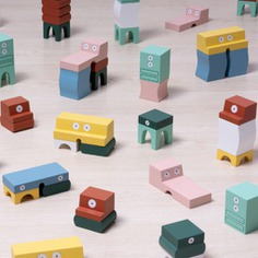 Inspired by a desire to help young children sleep, these furniture blocks will make bedroom furniture feel like a friend! Aspiring designers can create fun and imaginative furniture models using these 16 unique wooden blocks. Additional augmented reality stickers will bring their creations to life!