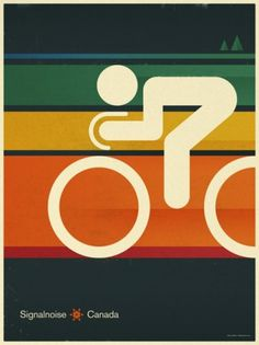 Cycle poster by Signalnoise. More inspiring... | WE AND THE COLOR - A Blog for Graphic Design, Art, Photography, Interior, Architecture, Fas #sport #poster
