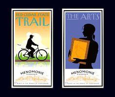 Menomonie poster right David Brier #design #illustration #poster #art #deco