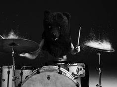 HEDI SLIMANE DIARY #bear #drums