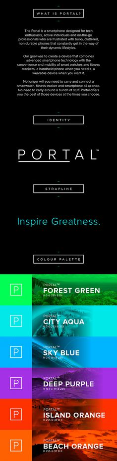 "PORTALâ""¢ // Inspire Greatness https://www.indiegogo.com/projects/portal-by-arubixs-flexible-wearable-smartphone #phone #weather #portable #ux #icon #ios #branding #design #interface #icons #ui #iphone #app #mobile #android #sport"