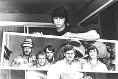 Brian Wilson, Beach Boys, Mirror, Portrait, Black and White