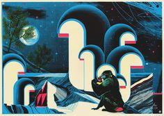Saint Mandrill on the Behance Network #baboon #print #design #illustration #poster