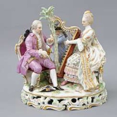 MEISSEN figure group 'The music', about 1900. #porcelain