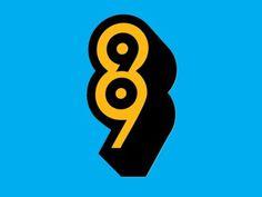 8990 #branding #retro #monogram #digital #identity #logo #typography