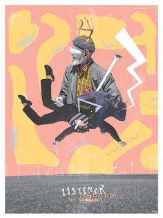 Listener Collage Concert Poster for Detroit Show - John Sippel | vltrr vltrr.com