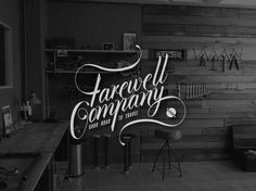 Farewell Co. #logo #lettering #identity #hand