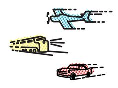 Planes, Trains, & Automobiles #train #chris #baker #icon #illustration #plain #car #transportation