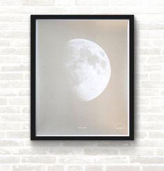#Moon & Back—#Silver Screen Print#poster #screenprint #art #studiojanuary