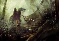 Forest Horseman by flaptraps - richard anderson - CGHUB #painter #forest #horseman #painting