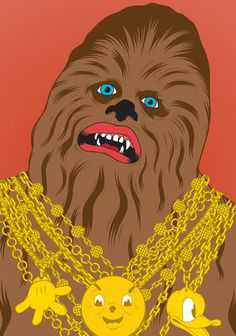 Chewie #gardner #vector #shaun #wars #illustration #chewie #star #chewbacca #bling