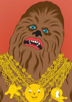 Chewie #gardner #vector #shaun #wars #illustration #chewie #star #chewbacca #bling