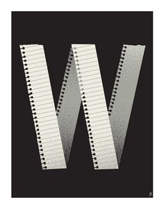 Letter W by Methane Studios #letter #illustration #poster #typography