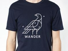 Dribbble - Wander T 2nd Edition by Keenan Cummings #icon #wander #bird
