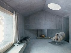 nickisch sano walder preserve the refugi lieptgas in concrete #cabin