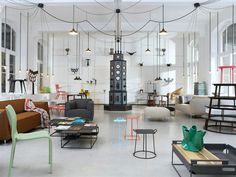 http://elledecoration.co.za/files/2013/02/Moooi pendant lights1.jpg #interior #colour #minimal