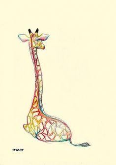 Giraffe's back 5x7Print by Moor on Etsy #moor