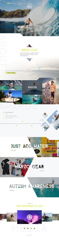 Clay Marzo - #Website Redesign by CHRIS #BURDA