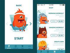 Fitness Mobile App UI