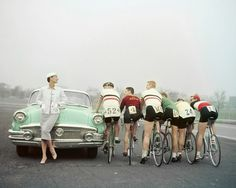 tumblr_l30zo4tT8n1qau50i.jpg (500×400) #bicycle #rides #vintage #numbers #car #race