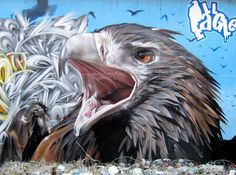 Eagle graffiti street art #graffiti #realism #street #art #realistic