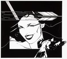 Just Looking Gallery - Patrick Nagel: Playboy Arrow and Bird #patrick #illustration #playboy #nagel