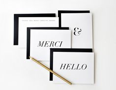Image of GILDED NOTES II ASSORTED SET #italic #card #print #merci #hello