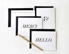 Image of GILDED NOTES II ASSORTED SET #italic #card #print #merci #hello