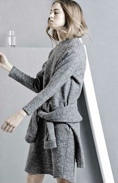 Kahlo | Autumn/Winter 14 #fashion #dress #grey