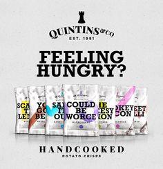 QUINTIN&CO CRISPS // Branding on Behance #branding #ux #packaging #color #vibrant #type #ui #product #brand #logo #crisps #typography