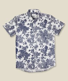 Saturdays Surf NYC Esquina Floral Shirt White/Blue #fashion #floral #menswear #shirt