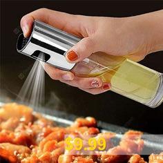 Stainless #Steel #Oil #Spray #Glass #Bottle #Vinegar #Bottle #Oil #Salad #Barbecue #Oil #Spray