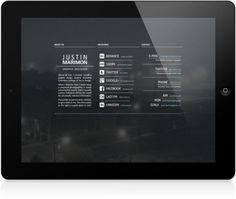 Personal Landing Page on the Behance Network #fog #ipad #photo #design #website #screen