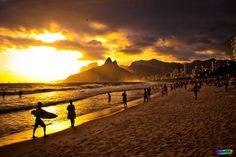 Rio #beach #surf #rio #photo #de #photography #brazil #sunset #janeiro