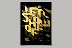 LETZ SHOW OFF by Kidon Bae #event #graphicdesign #dance #eventposter #poster #typeposter #typography