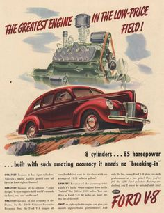 Ford magazine ads from 1940s #ads #40s #advertisements #1940