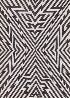 Matthew Craven #pattern #white #black
