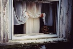 All sizes | Untitled | Flickr - Photo Sharing! #creepy #photography #film #window #skull