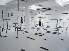 What I Don't Know About Space - but does it float #installation #esther stocker