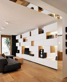 Elegant Ljubljana Apartment with Geometric Lines by Lidija Dragisic Studio 360