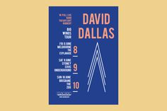 David Dallas on Behance #print #design #graphic #sorbet #poster #music #tour