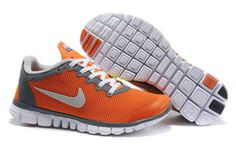 Nike Free 3.0 V2 Orange Grey White-Mens #shoes