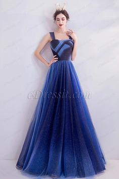 eDressit Sexy Pleated Bodice Elegant Shiny Tulle Prom Party Dress (36226605)