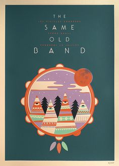 Affiche The Same Old Band par Weareted imprimé en sérigraphie par Dezzig #screenprint #rockband #printmaking