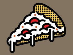 Dribbble - Goin' pop art with this one by Alberto Antoniazzi #illustration #vector #pizza