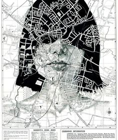 Portraits Drawn on Maps by Ed Fairburn #portraits #drawing #maps